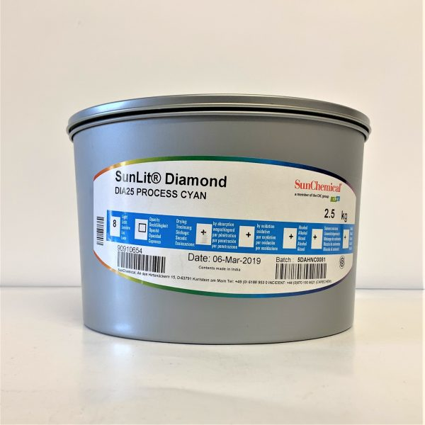 Sun Chemical SunLit® Diamond 4-Colour Process Ink - Cyan